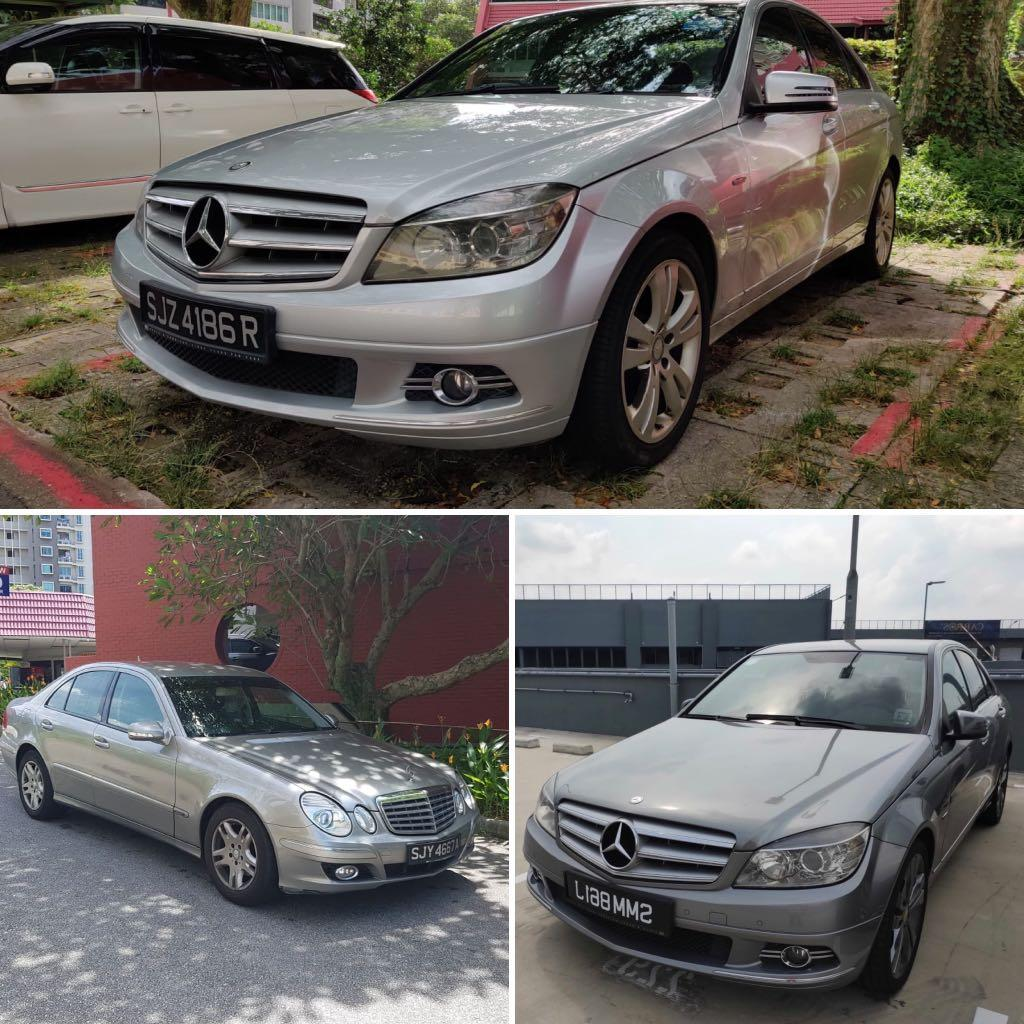 Merc for rent (3 unit avail) c class e class c180 c200 e200