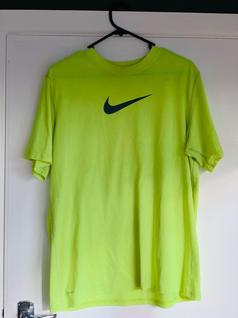 Neon green Nike t shirt
