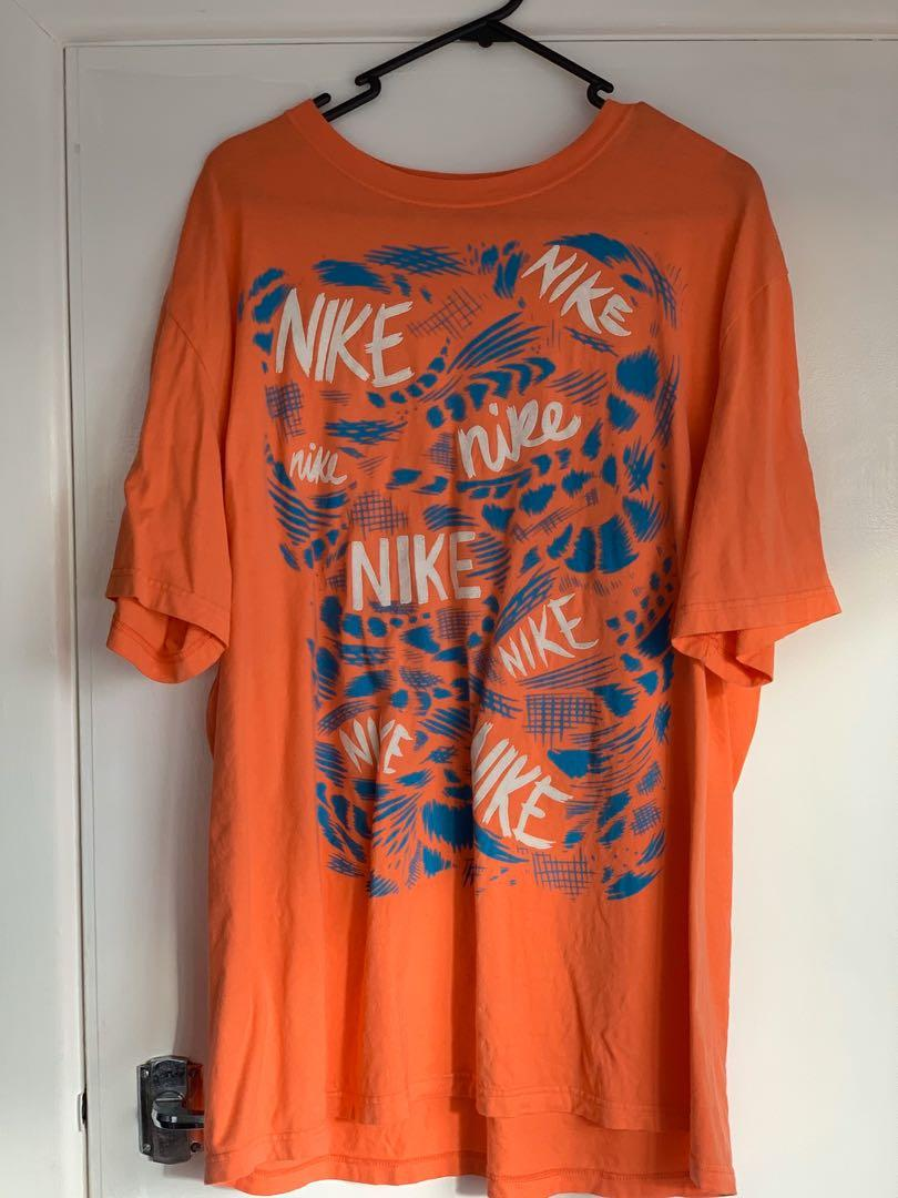 old school Nike orange t shirt