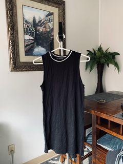 One Clothing tank dress / white collar