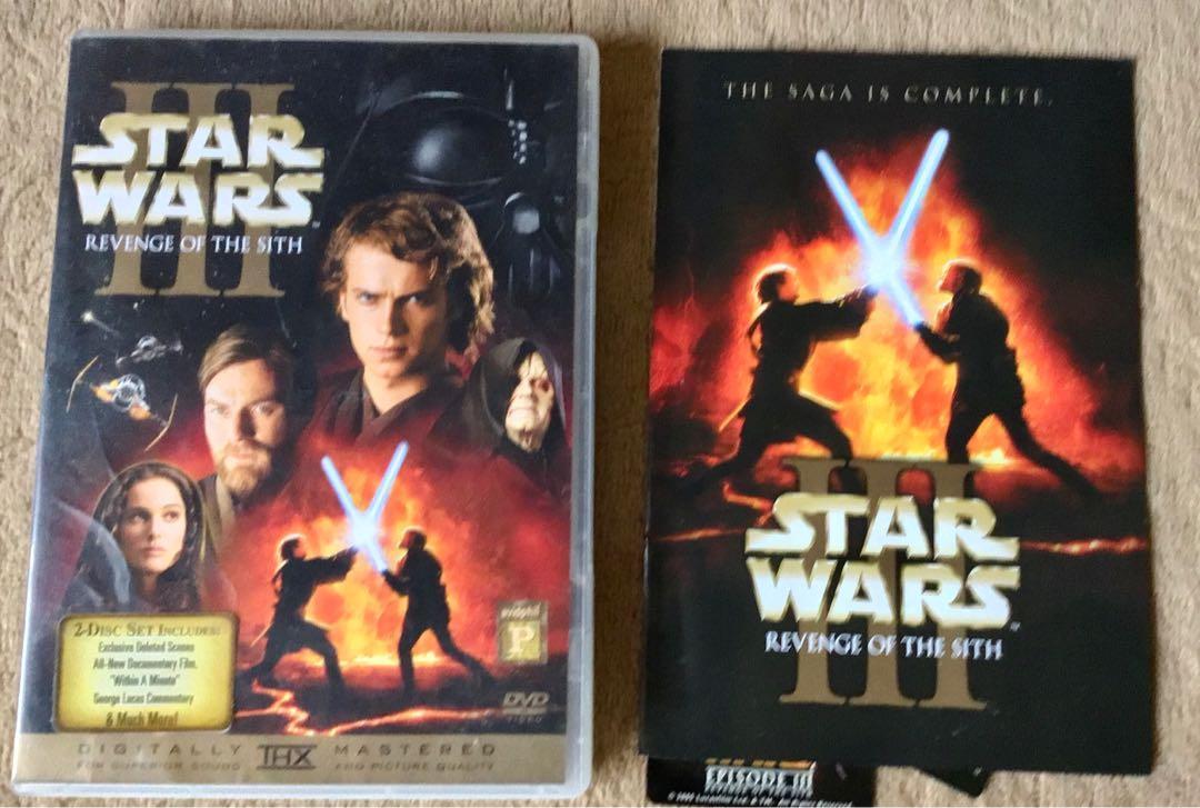 Star Wars 3 Revenge Of The Sith Region 3 Unsealed Music Media Cd S Dvd S Other Media On Carousell