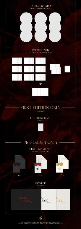 TWICE - MORE & MORE - 9th Mini Album - versions : A ver / B ver / C ver - More And More - PREORDER / READY STOCK + FREE GIFT PHOTOCARDS