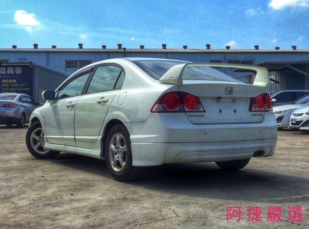 2008年 Honda Civic K12 跑6萬 沒薪轉沒勞保 信用瑕疵 皆可辦理 只需要雙證件強力過件