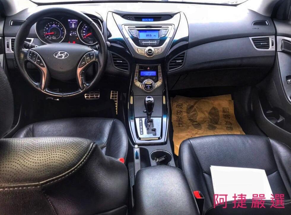 2012年 Hyundai Elentra 跑12萬 沒薪轉沒勞保 信用瑕疵 皆可辦理 只需要雙證件強力過件