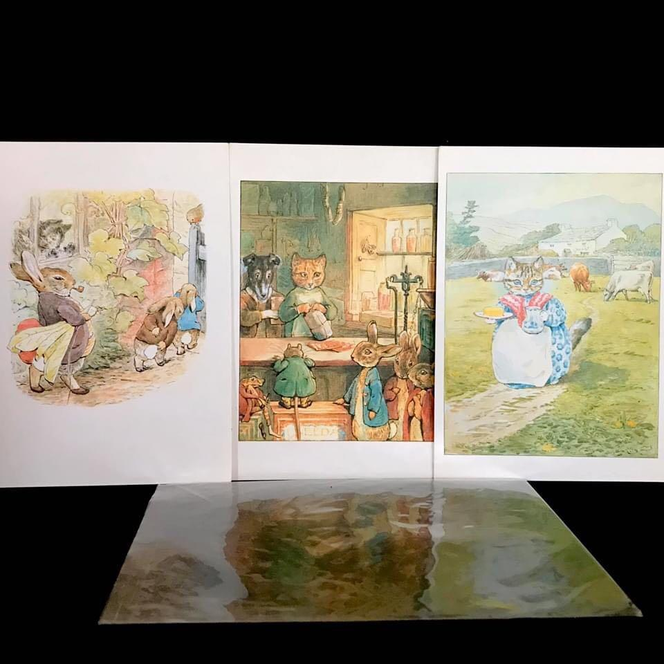 Beatrix Potter collectable postcards (The Tale of Peter Rabbit, The Tale of Ginger and Pickles, The Tale of The Pie and The Patty-pan
