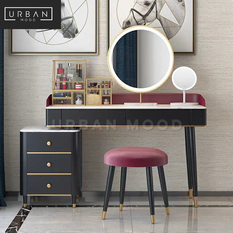 Bexley Modern Led Vanity Table Set Furniture Tables Chairs On Carousell