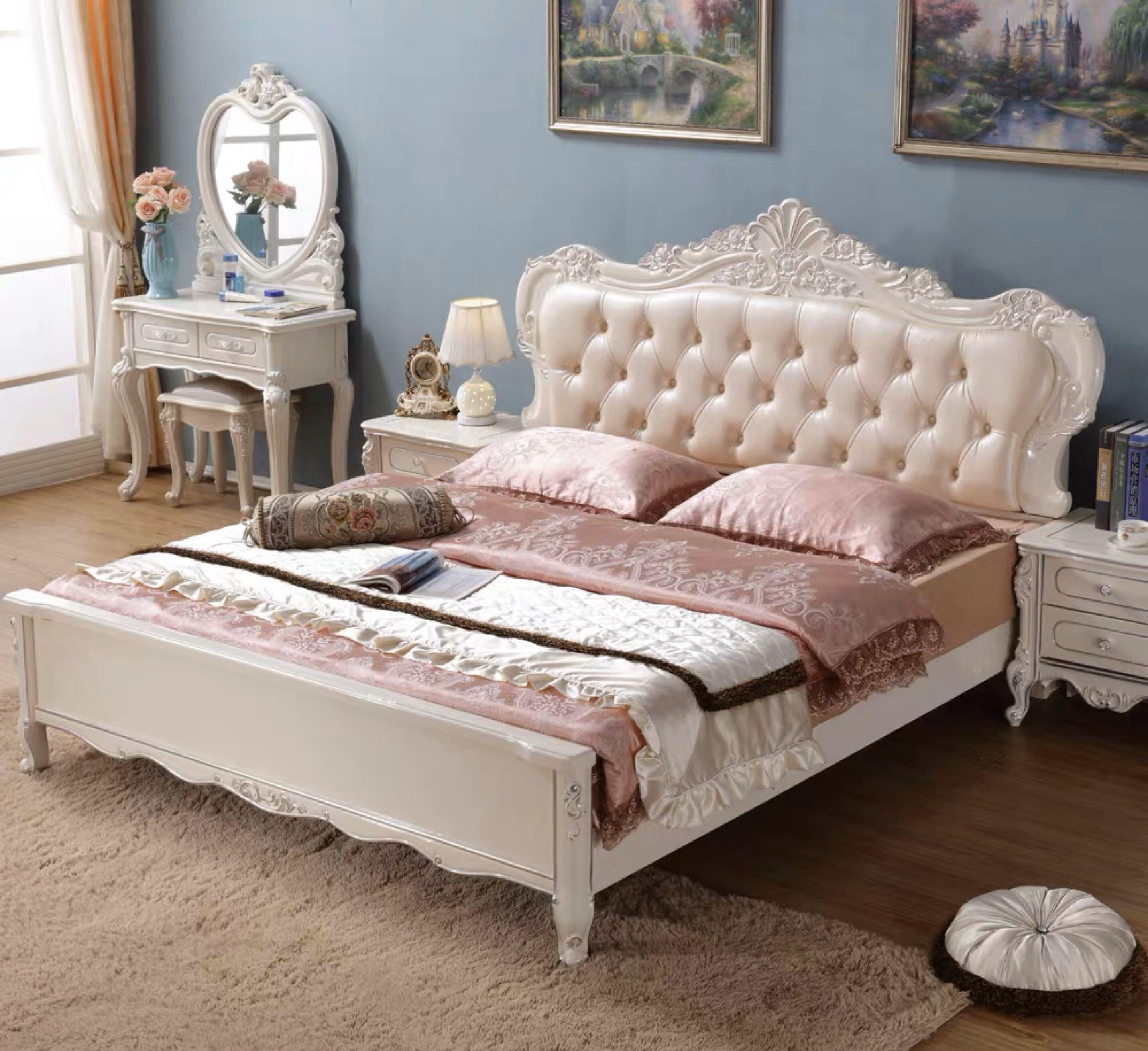 Picture of: European Style French Country Chic Bed Furniture Beds Mattresses On Carousell