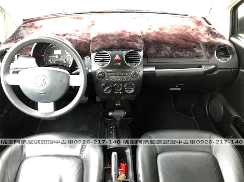 【FB搜尋桃園阿承】福斯 超人氣BEETLE金龜車 2006年 1.6CC 黑色 二手車 中古車
