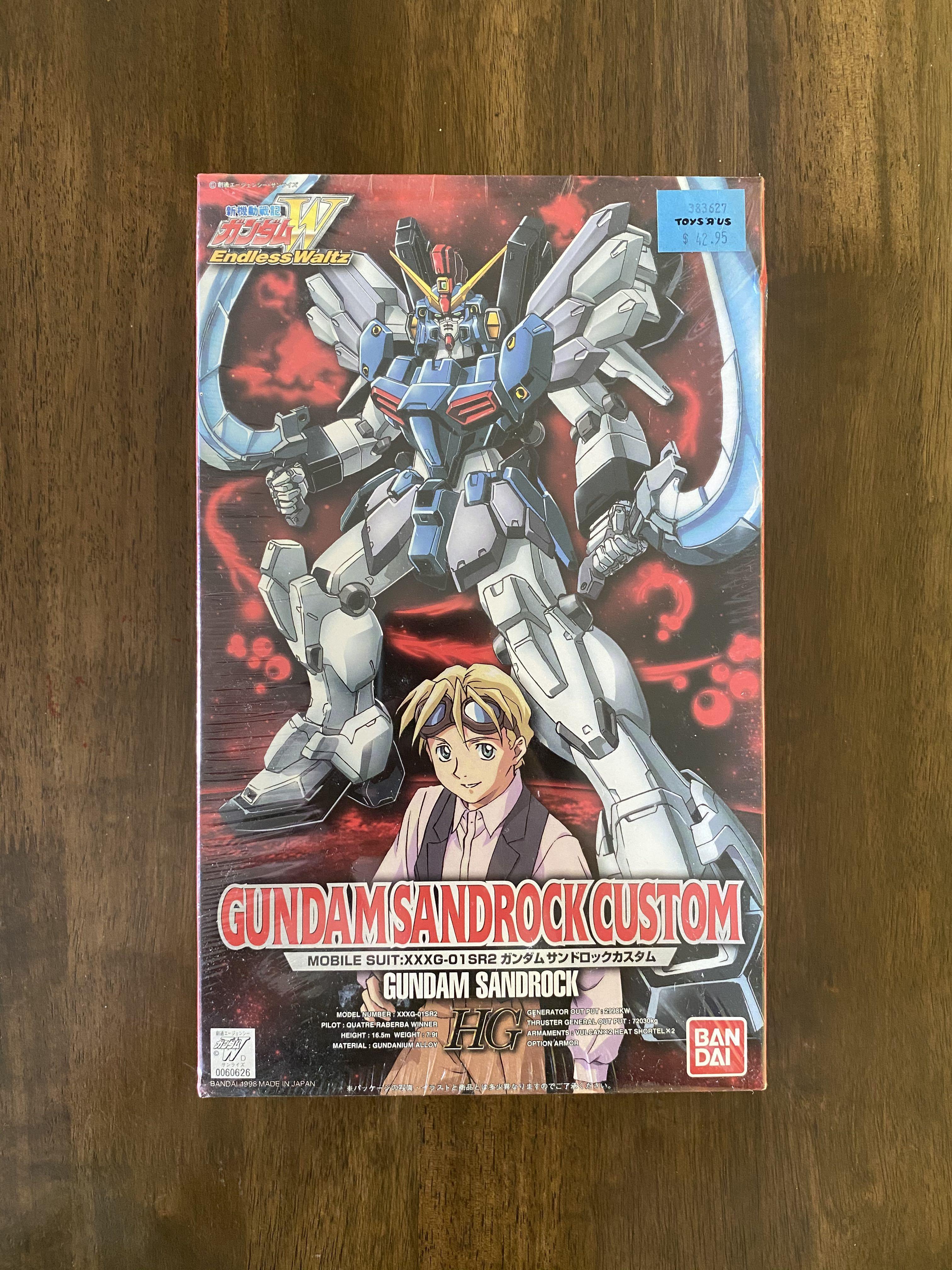 Vintage Gundam Sandrock Custom Hg Toys Games Bricks Figurines On Carousell
