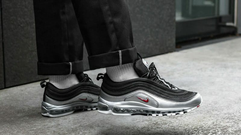 nike air max 97 silver and black