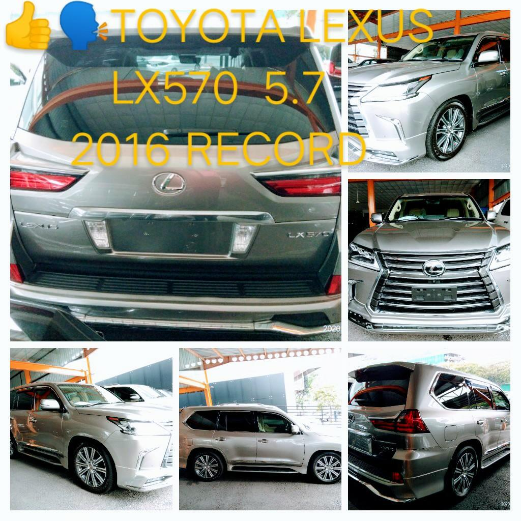 TOYOTA LEXUS LX570 5.7 👍🗣2016RECORD PRICE ON THE ROAD  RM548,888.88👍👍👍Johnngseng➡📳 0⃣1⃣2⃣2⃣3⃣6⃣7⃣2⃣7⃣2⃣