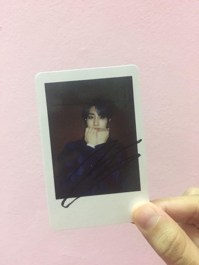 WTS Straykids Stray kids Unveil Tour Han Jisung Official signed polaroid