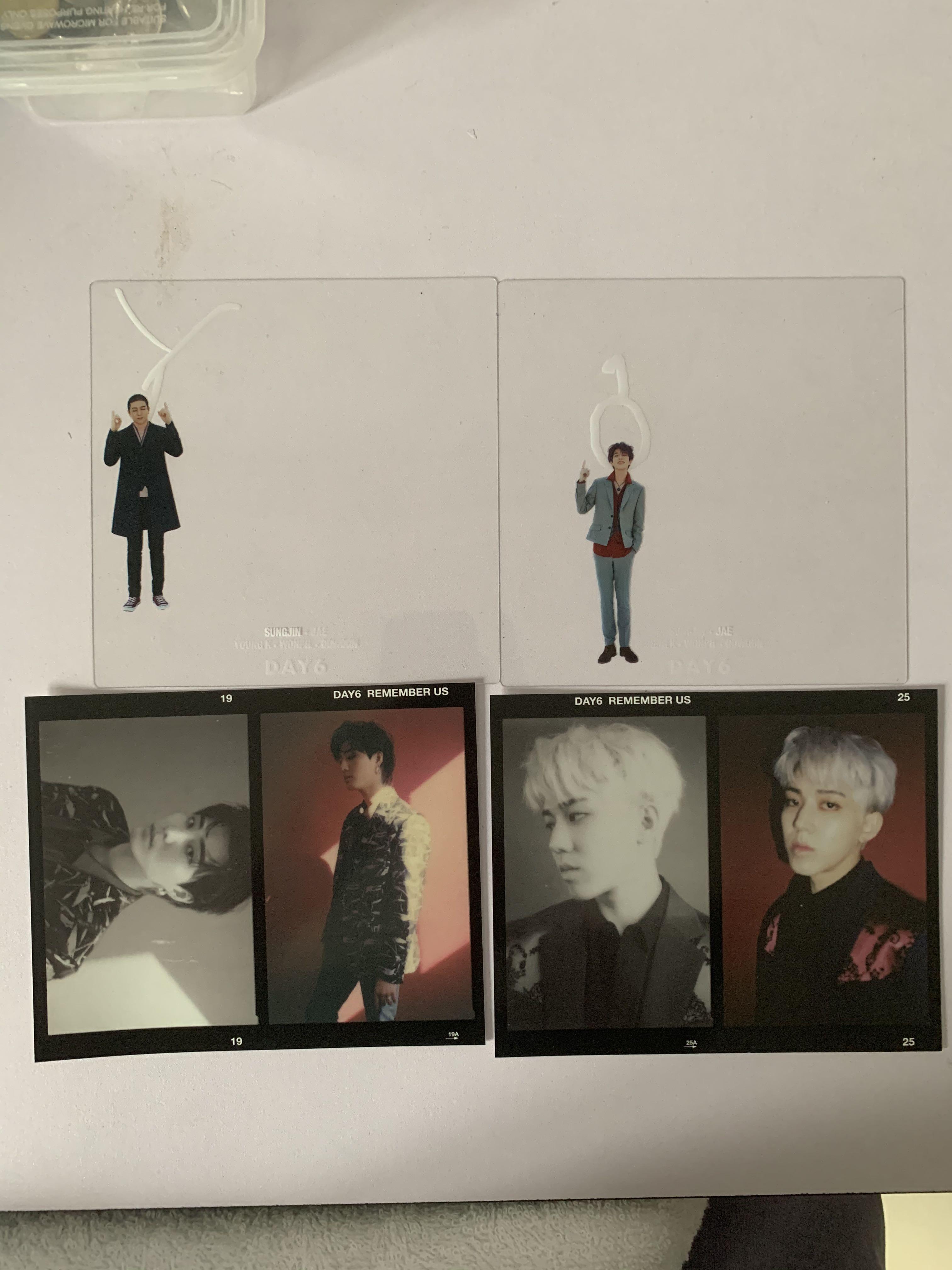 (WTS/WTT) Day6 Remember us Jae clear card n dowoon postcard