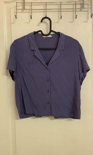 藍紫色短板襯衫