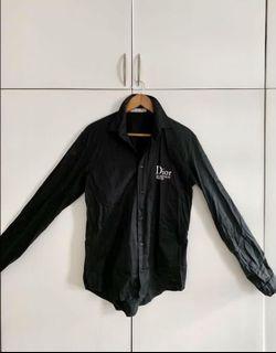 Christian Dior Buttondown Polo in Black