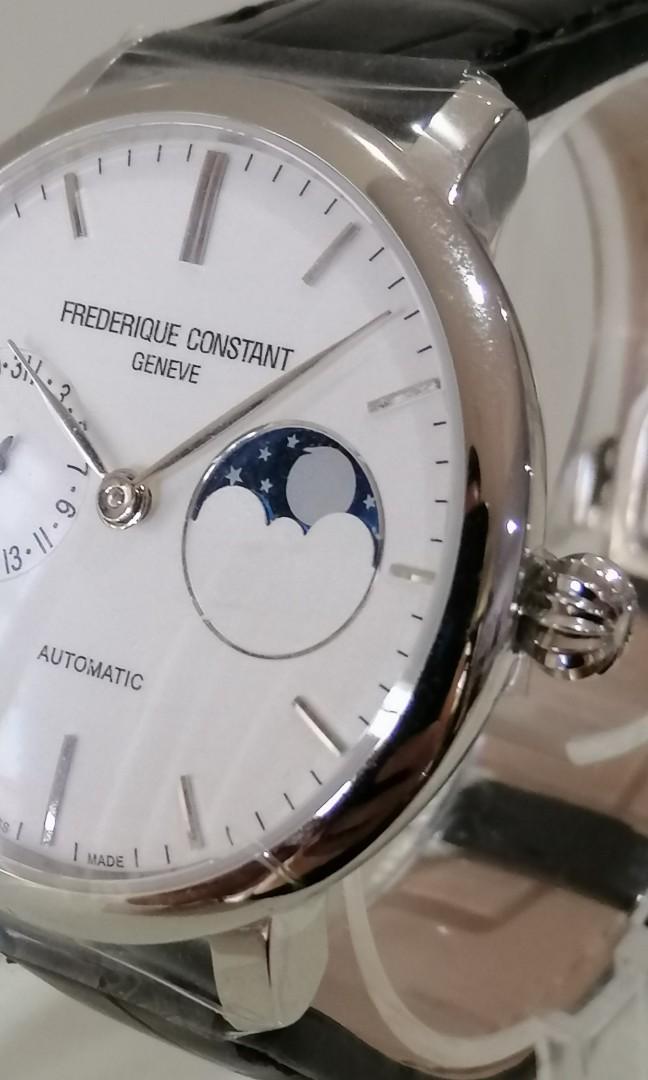 Frederique Constant Moonphase Rare White dial Cartier PRADA Chopard LV Santos Longines Montblanc Blancpain Moser Omega IWC