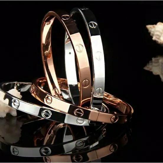 Gelang Tangan Cartier Lookalike Import Murah Silver Bracelets Korean style #Thr2020