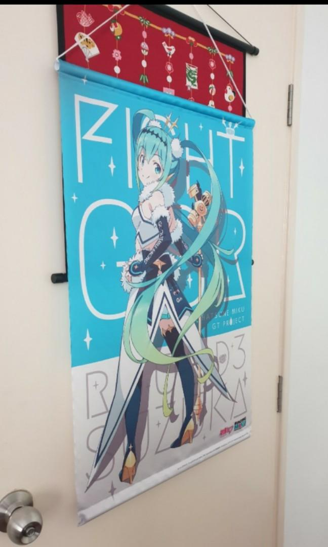 Hatsune miku GSR 2018 LIMITED EDITION TAPESTRY anime poster