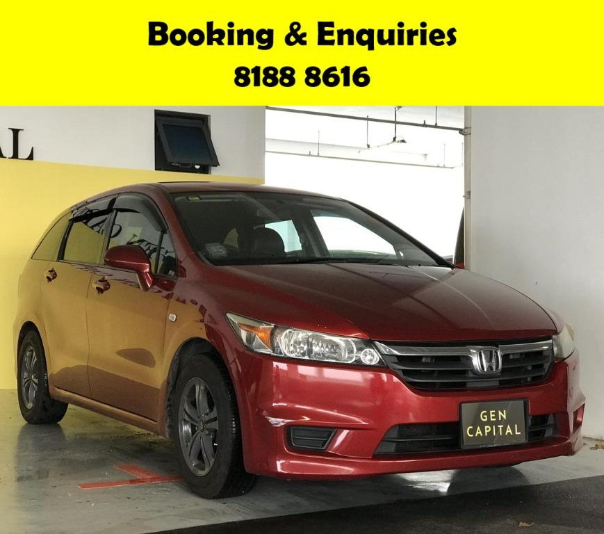 Honda Stream -THE LOWEST RENTAL WITH 50% OFF DURING CIRCUIT BREAKER, ADVANCE BOOKING ONLY.  Travel with a peace of mind with just $500 deposit driveaway. No hidden cost & Gimmicks. Whatsapp 8188 8616 now to enjoy special rates