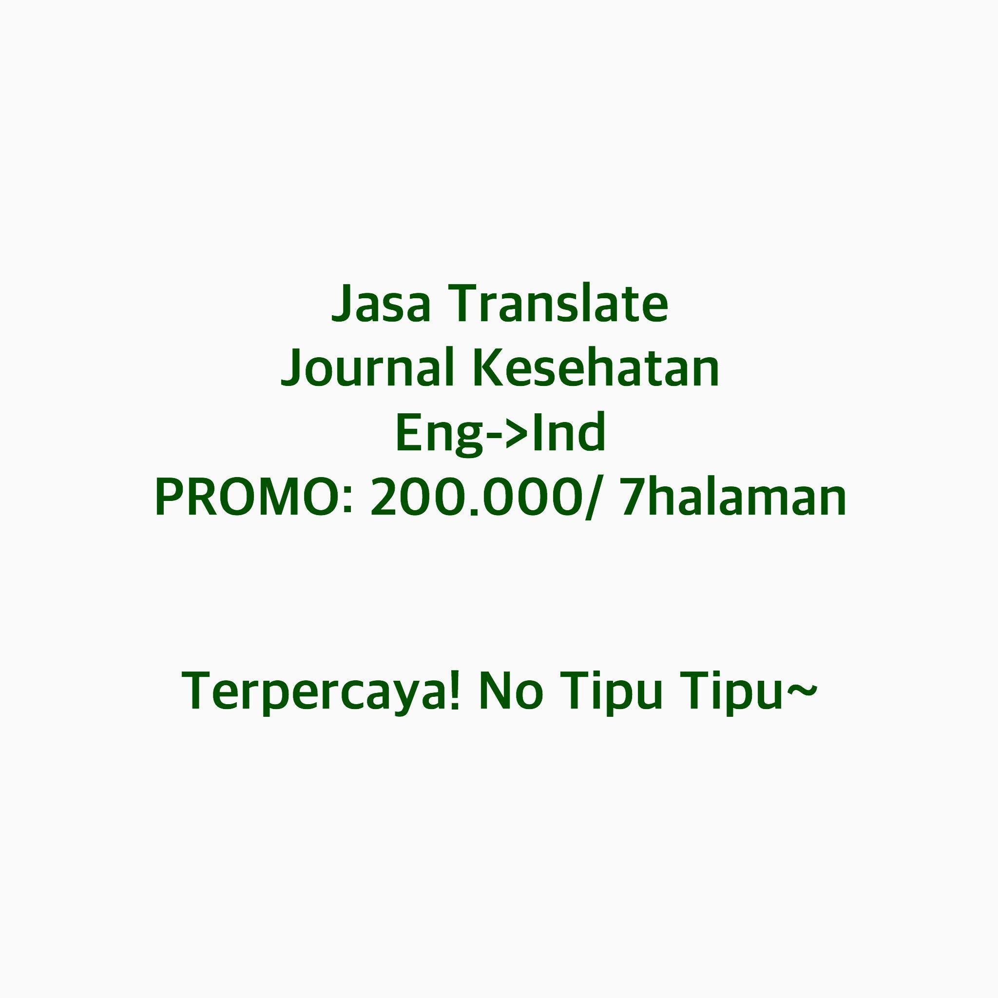 JASA TRANSLATE JOURNAL JURNAL BAHASA INGGRIS KEDOKTERAN TERPERCAYA