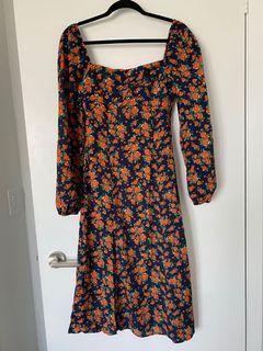 Missguided puff sleeve summer dress