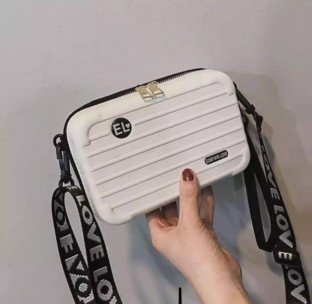 Oswego Mini Suitcase Shape Crossbody Bag 2019 New Personality HandBags Square Wild Shoulder Messenger Bag Box Bags For Women