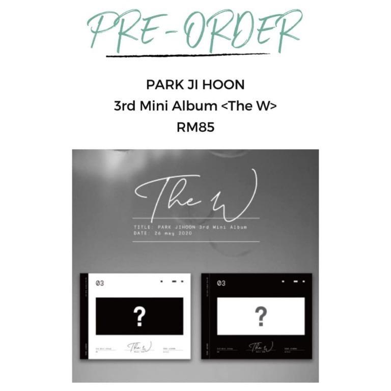 [Pre-order] PARK JI HOON MINI ALBUM 第3张迷你专辑 - THE W