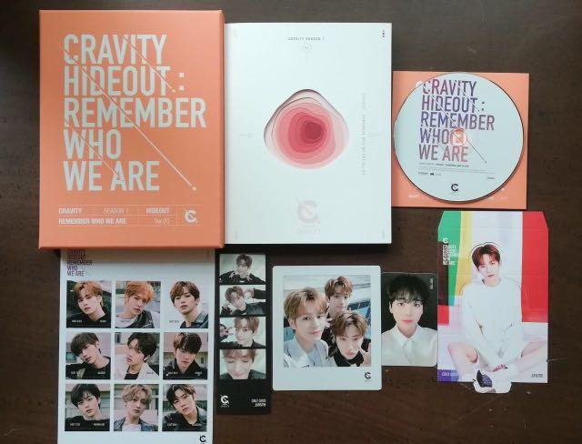 [READYSTOCK/OFFICIAL/LOOSEITEM]Cravity Season 1 Hideout:Remember Who We Are