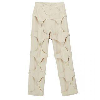 Reconstruction khaki jeans
