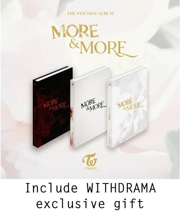 "(Withdrama) TWICE 9th Mini Album ""MORE & MORE"" free Hologram Photocard"