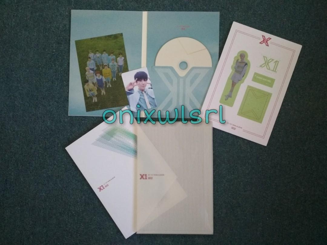 X1 Quantum Leap:Bisang version album (unsealed) with Kang Minhee (Cravity/X1) standee and Lee Eunsang AR pc