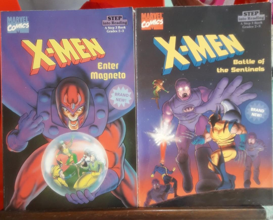 "X-MEN ""Enter Magneto"" & "" Battle of the Sentinels"" STEP into Reading Step 3 Books  (Grades 2-3)"