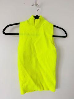 Zara neon turtleneck top