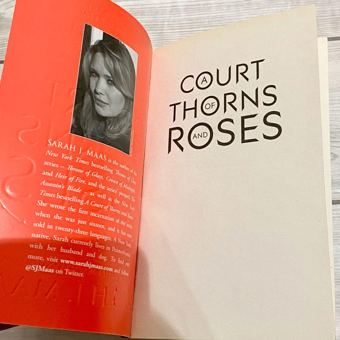 A court of thorns and roses SIGNED by sarah j. Maas and josh maas ACOTAR UK paperback book merch