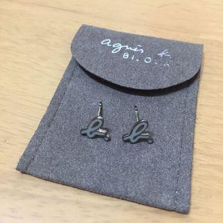 agnes b. 耳環 純銀 基本款