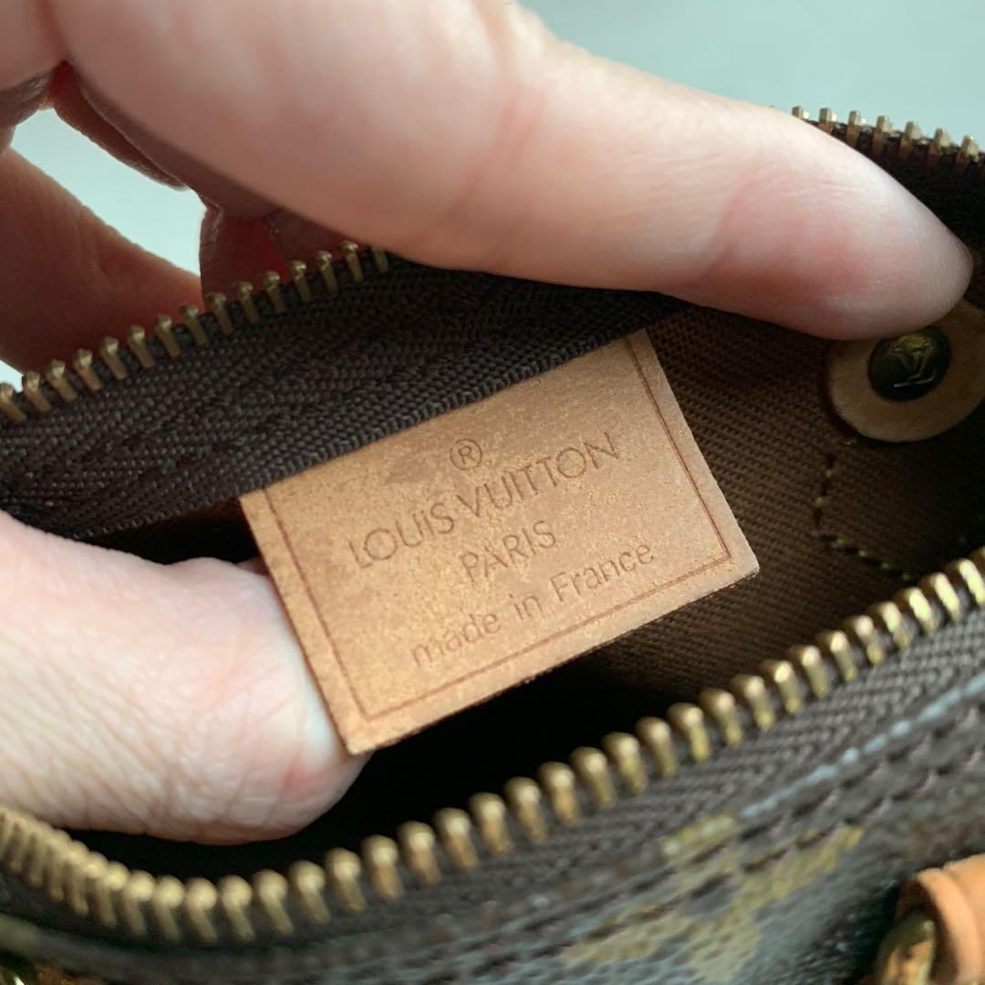 AUTHENTIC LV LOUIS VUITTON Mini Speedy Nano Bag with Crossbody Monogram Strap