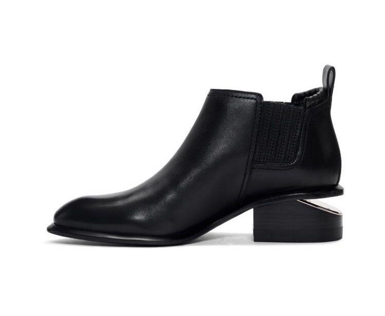 Brand new Alexander Wang Black & Rose Gold kori boots