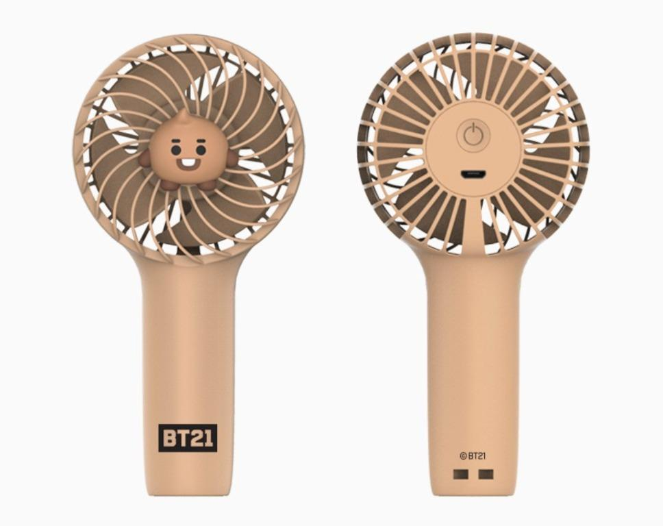 BT21 Official Baby Mini Handheld Personal Portable Fan
