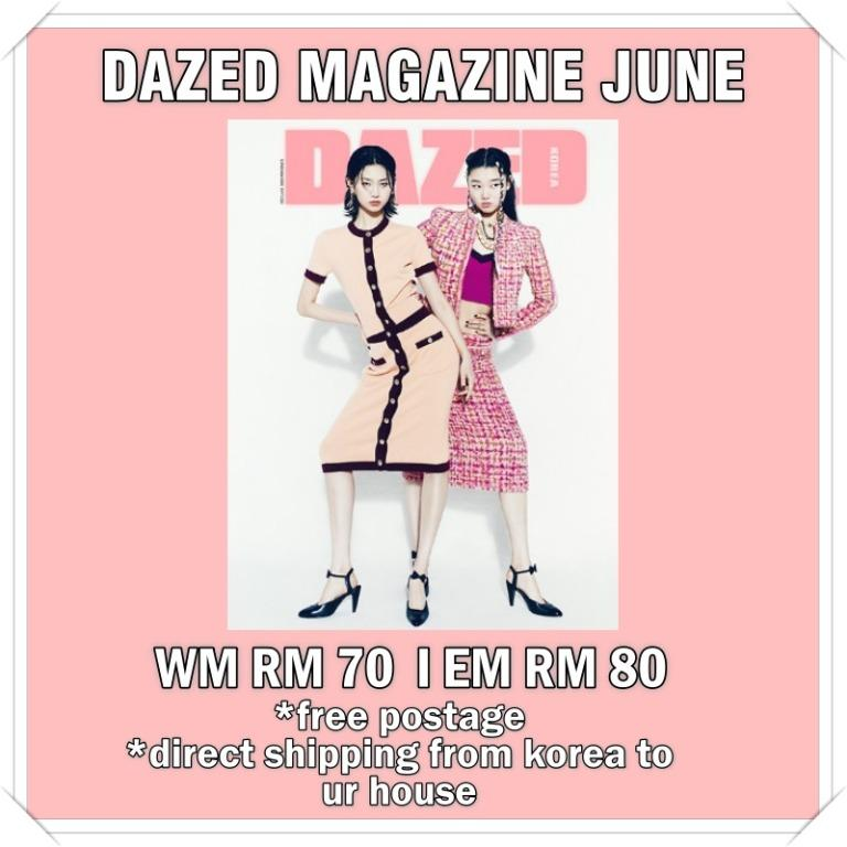 DAZED CONFUSED KOREA JUNE ISSUE: MONSTA X HYUNGWON, AB6IX,LEE EUN SANG,THE BOYZ, APINK CHORONG BOMI NAMJOO