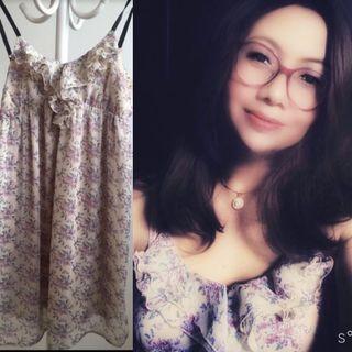 Flower Dress mididress floral chifon