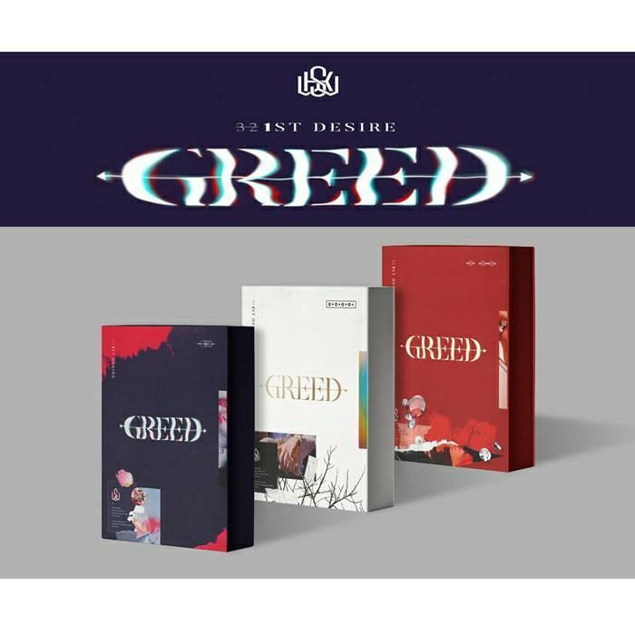 (FREE POSTAGE) Kim Woo Seok 1st Solo Album 1st Desire [GREED]