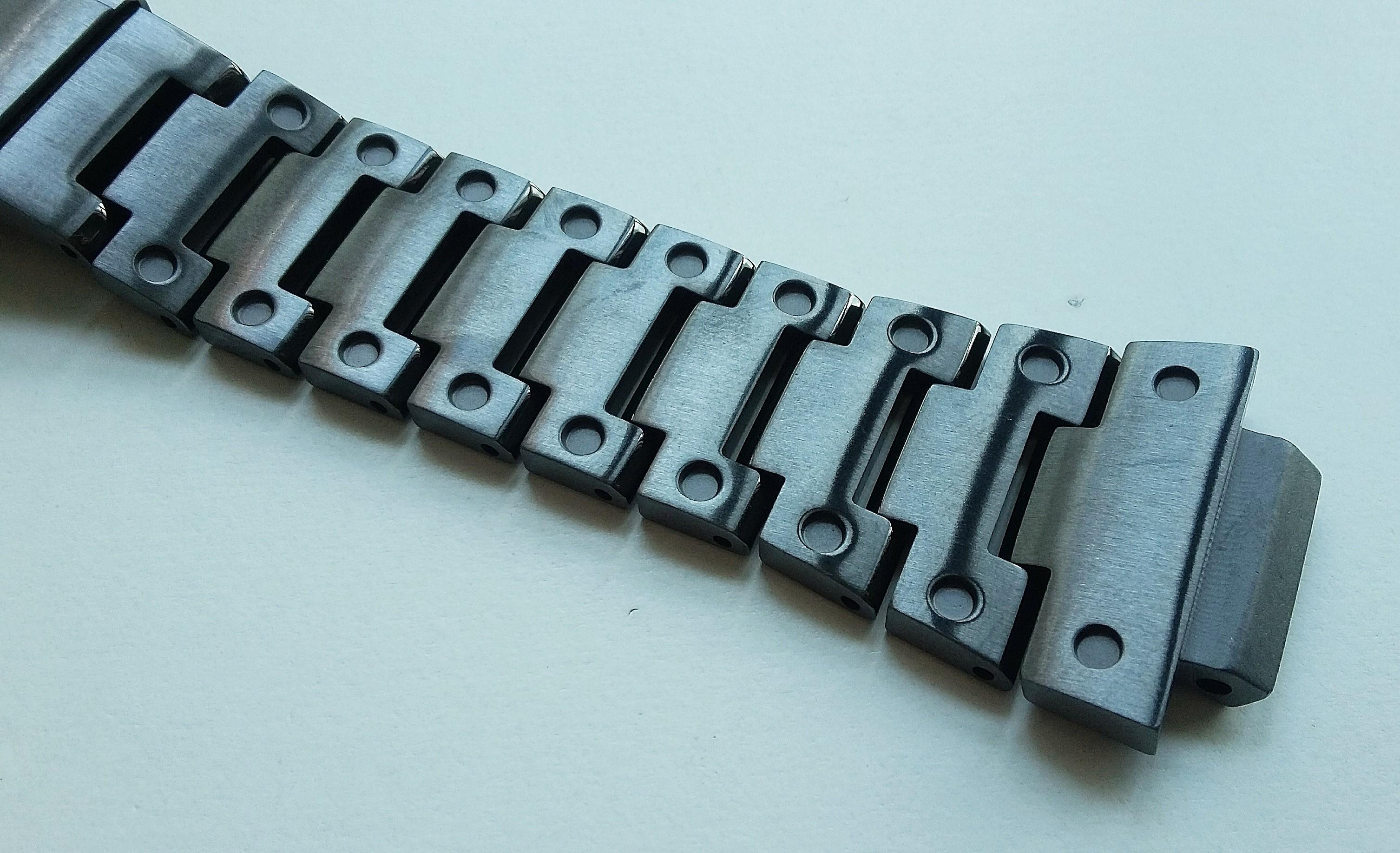 CNC MACHINED DLC SLATE GREY 316L STAINLESS STEEL BEZEL CASE AND BRACELET FOR CASIO G-SHOCK DW5610, G 5600E, GW-M5610, GW-M5600, GLX-5600, GLS-5600, GW-M5630, GW-S5600, DW-D5600(PRICE INCLUDE M0DIFICATION)
