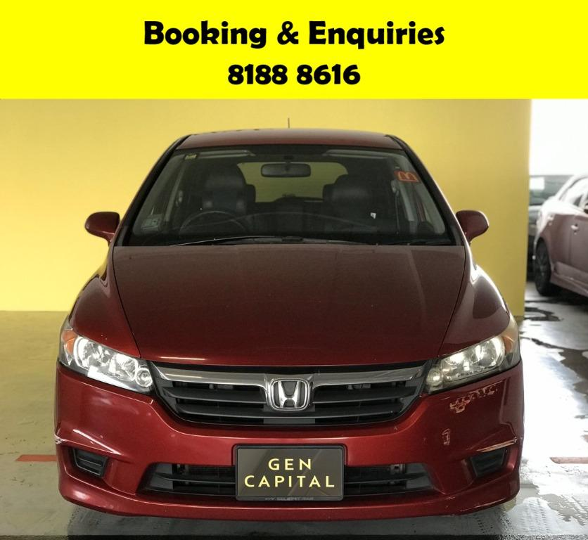 Honda Stream HAPPY THURSAY -THE CHEAPEST RENTAL WITH 50% OFF DURING CIRCUIT BREAKER, ADVANCE BOOKING ONLY. No hidden cost & Gimmicks. Whatsapp 8188 8616 now to enjoy special rates