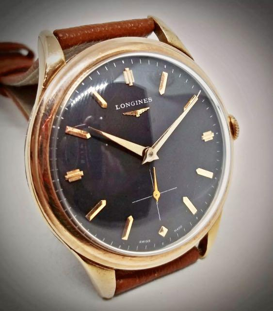 Authentic Very Scarce Longines 12.68z calibre Rose Gold Plated 39mm diameter Small Seconds (perfect size for men and women)- with accessories and 6 expensive matching exotic leather watch straps!! 😊👍🏻