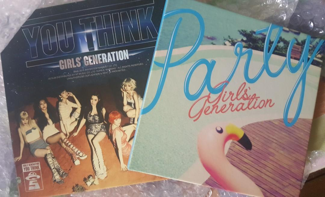SNSD GIRLS GENERATION CD (bundle) You Think + Party