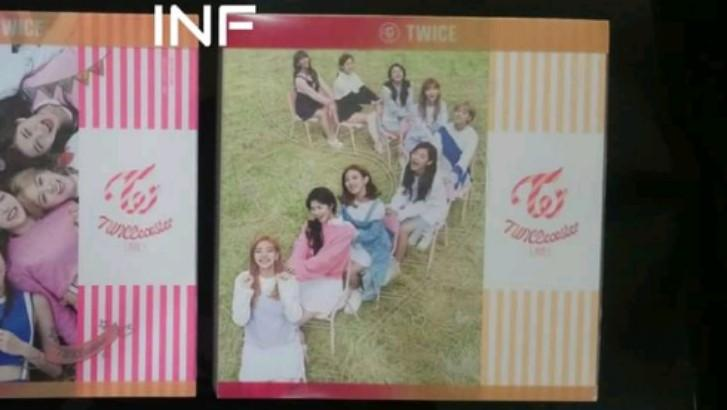 TWICE OFFICIAL TWICECOASTER LANE 1 APRICOT VER PHOTOBOOK+ JIHYO CD (NO PC OR POSTCARD INCLUDED)