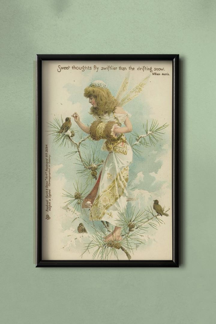 Vintage Fairy Canvas Art - Frame not Included