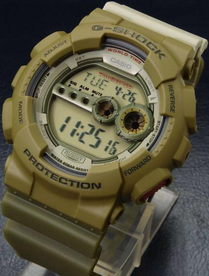 100% Authentic new Casio G-Shock Play Set Army Green GD-100PS-3 watch with Gshock  figurine man pack limited edition
