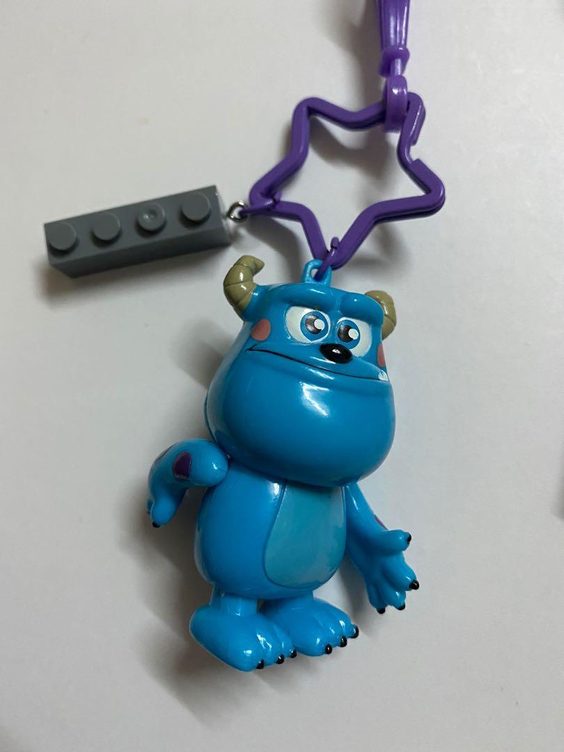 獨家設計-怪獸電力公司-日本毛怪與積木鑰匙圈