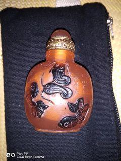 琥珀 手工鼻煙壺 20幾年前 四川出外景帶回 主角場務道具